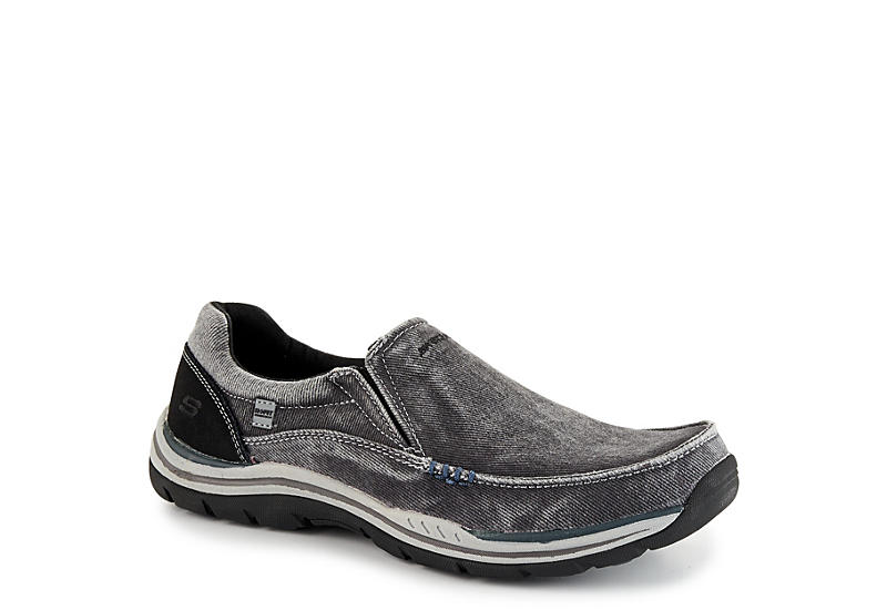7759f11b0beaa Black Skechers Mens Expected-avillo Relaxed Fit Active Loafer ...