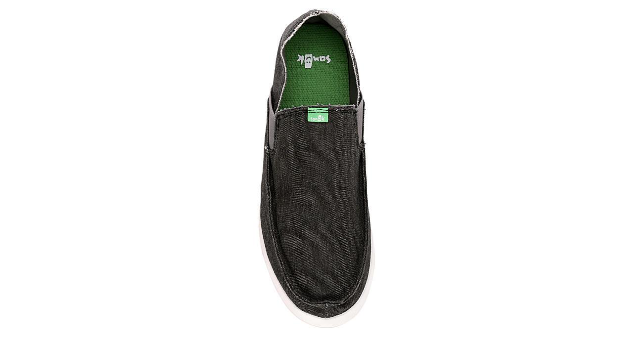 SANUK Mens Pick Pocket Slip-on Sneaker - BLACK
