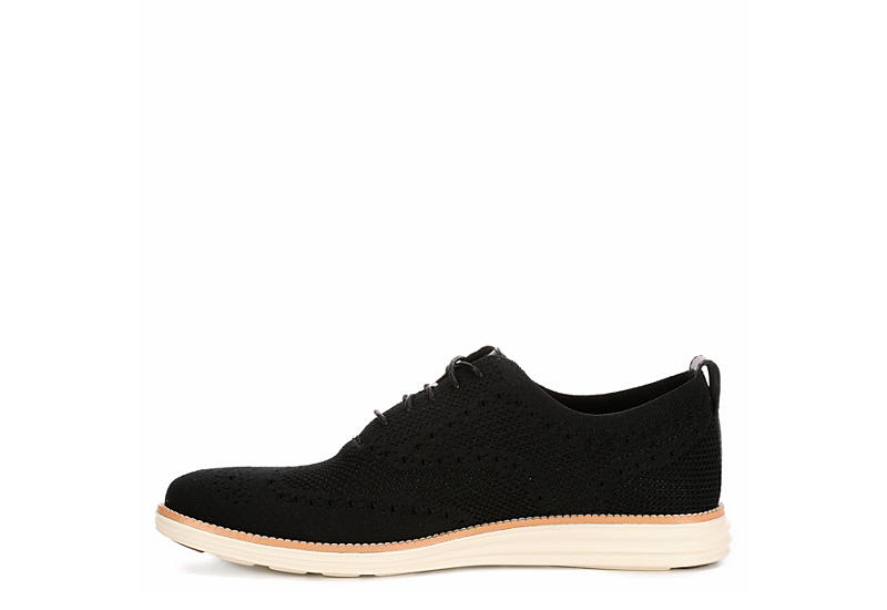 822ca46e235 Black Cole Haan Mens Original Grand Wingtip Knit Oxford | Casual ...