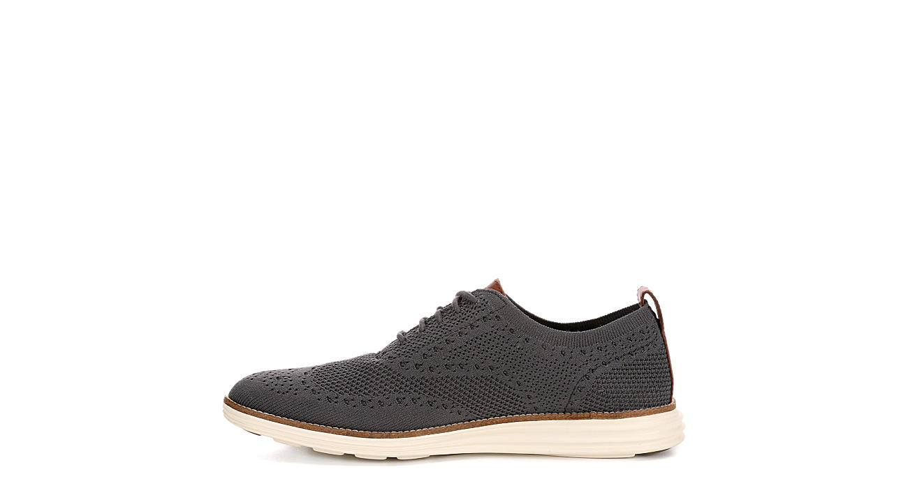 COLE HAAN Mens Original Grand Wingtip Knit Oxford - DARK GREY