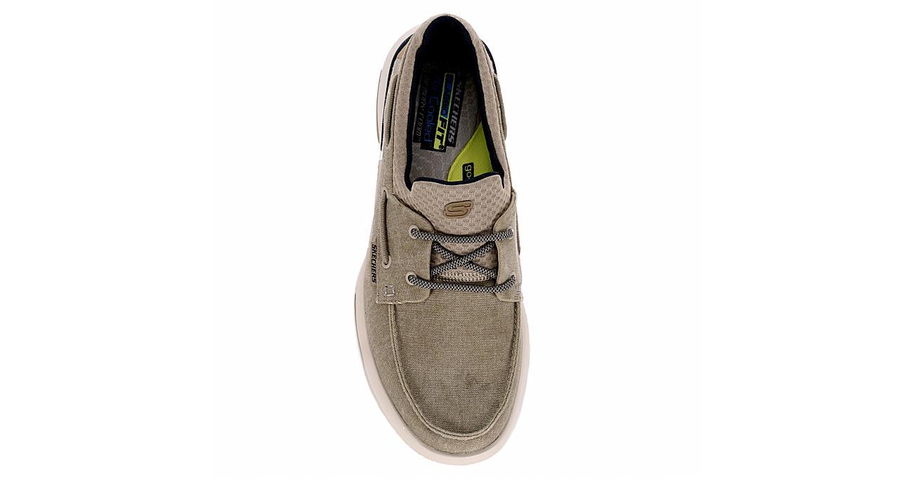SKECHERS Mens Bellinger-garmo Memory Foam 2-eye Sneaker - TAUPE