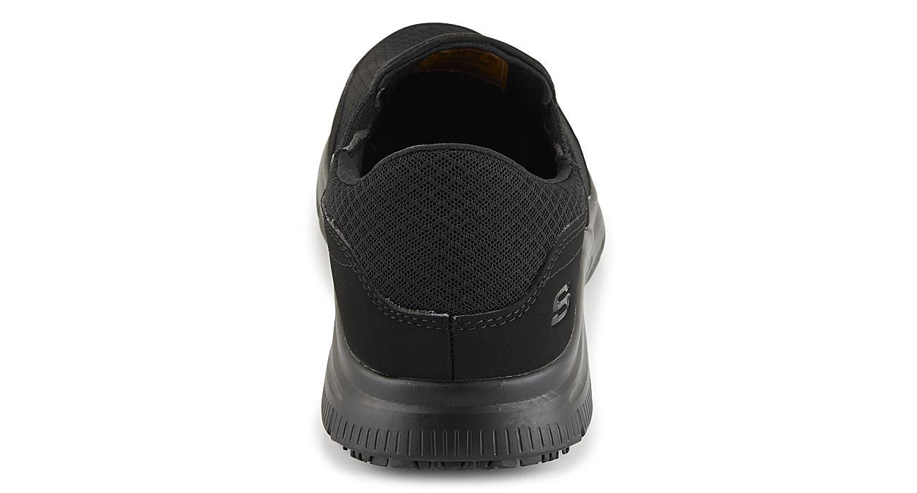 SKECHERS Mens Flex Advantage - Mcallen Slip Resistant - BLACK