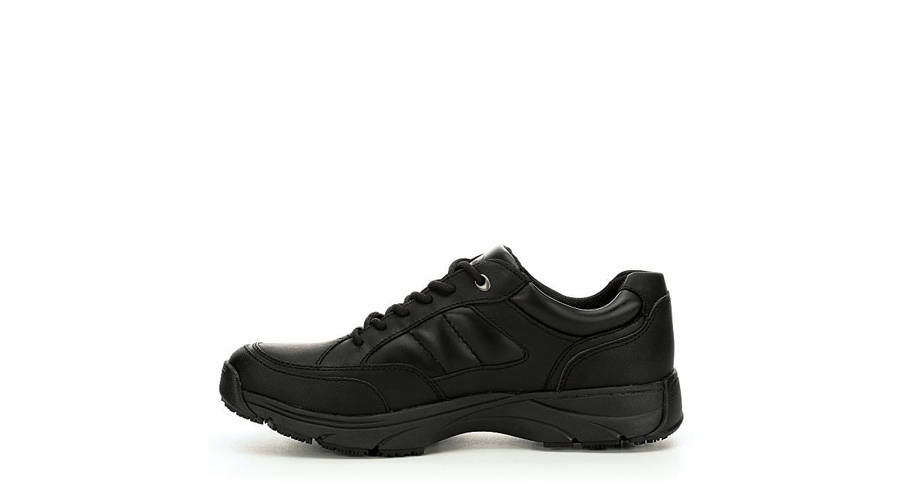 DR. SCHOLL'S Mens Aiden Work Shoe - BLACK