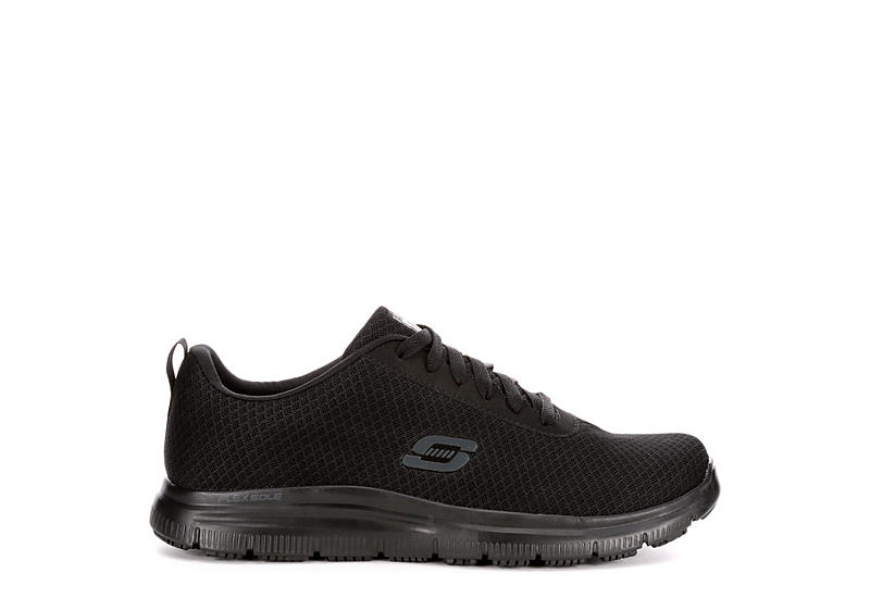 SKECHERS Mens Skechers Flex Advantage Sr-bendon Slip Resistant - BLACK