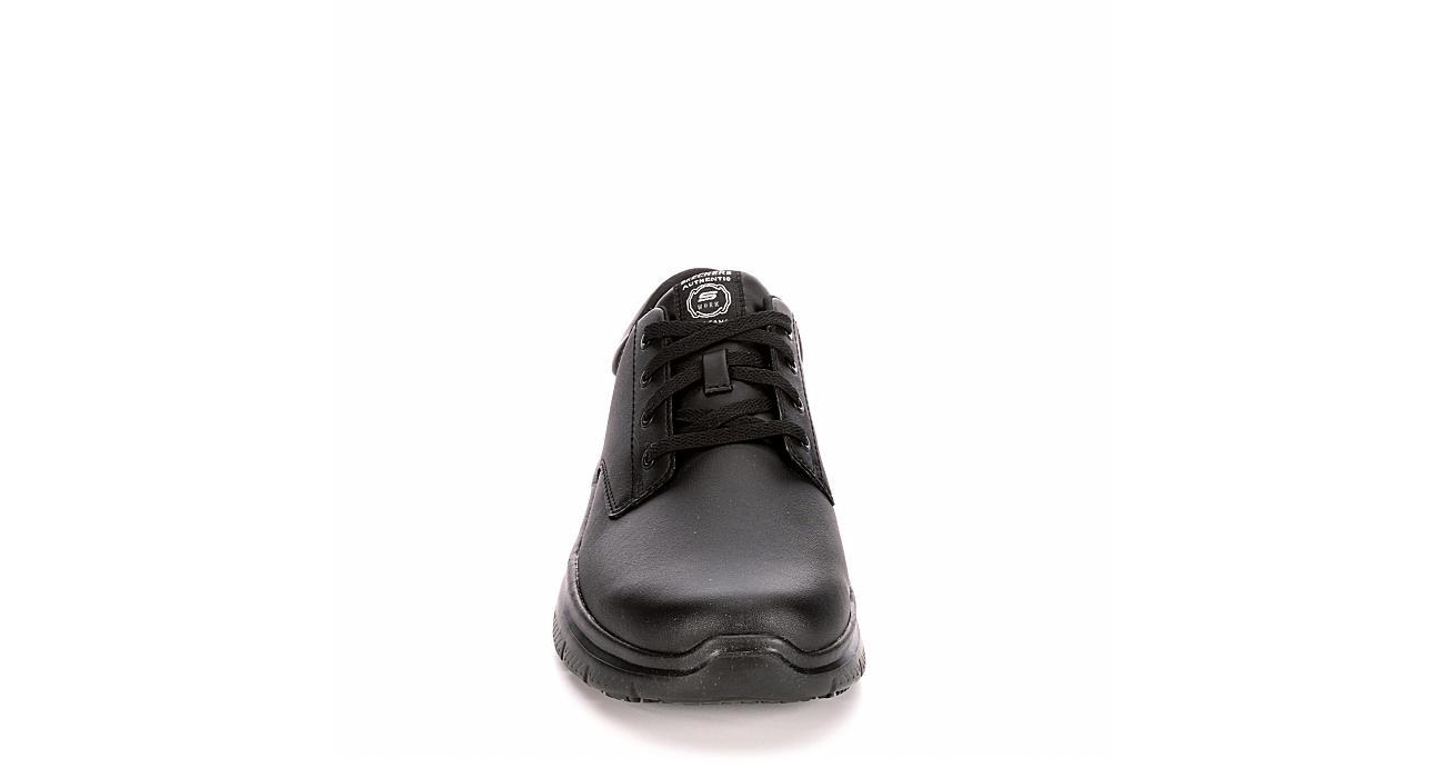 SKECHERS Mens Flex Advantage-fourche Work Shoe - BLACK