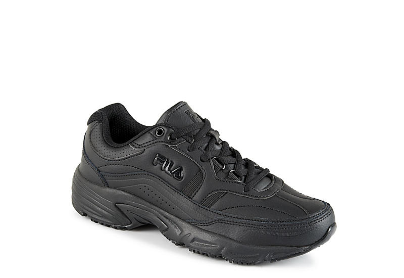 633ca5869853 Fila Womens Memory Work Shift Slip Resistant Sneaker - Black