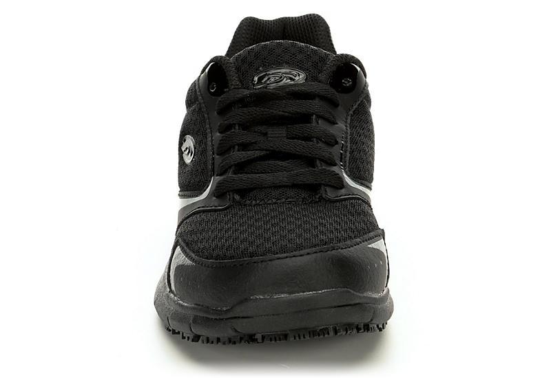 DR. SCHOLL'S Womens Inhale Slip Resistant Sneaker - BLACK