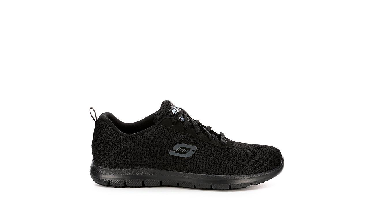 SKECHERS Womens Bronaugh Work Shoe - BLACK