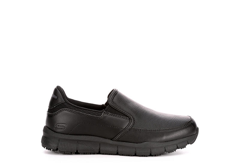SKECHERS Womens Nampa-annod Slip Resistant Casual Work Sli P On - BLACK