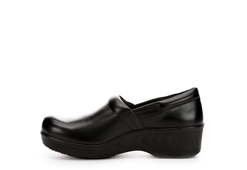 DR. SCHOLL'S Womens Dynamo Work Slip Resistant Clog - BLACK