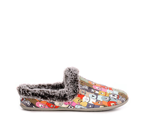 Womens Beach Bonfire Cuddle Mutts Slipper