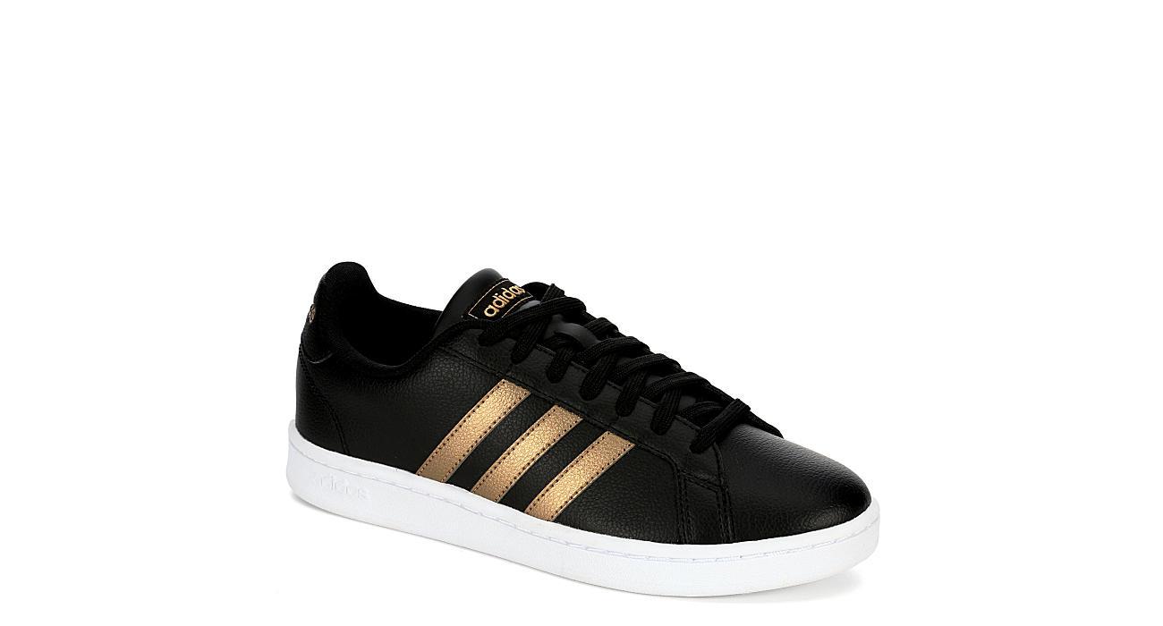 311c07937e0 Adidas Womens Grand Court Sneaker - Black