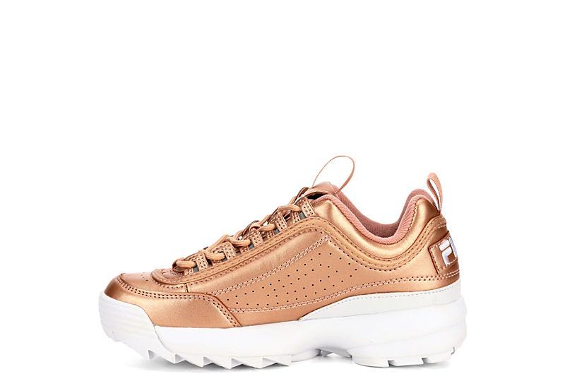FILA Womens Disruptor Ii Premium Sneaker - ROSE GOLD