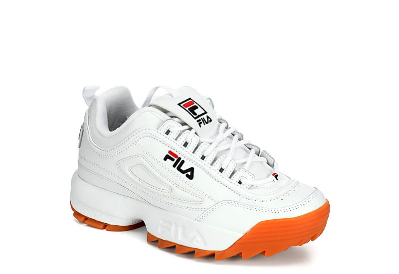 big selection of 2019 find lowest price attractive fashion WHITE FILA Womens Disruptor Ii Premium Sneaker