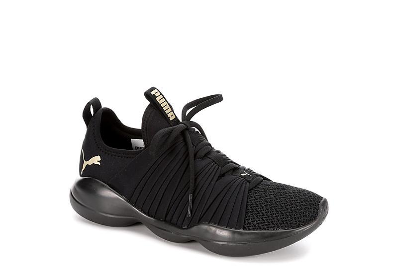19d456771b0 Black Puma Womens Flourish Sneaker | Athletic | Off Broadway Shoes