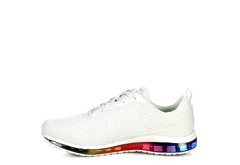 WHITE SKECHERS Womens Skech air Element Prelude Sneaker