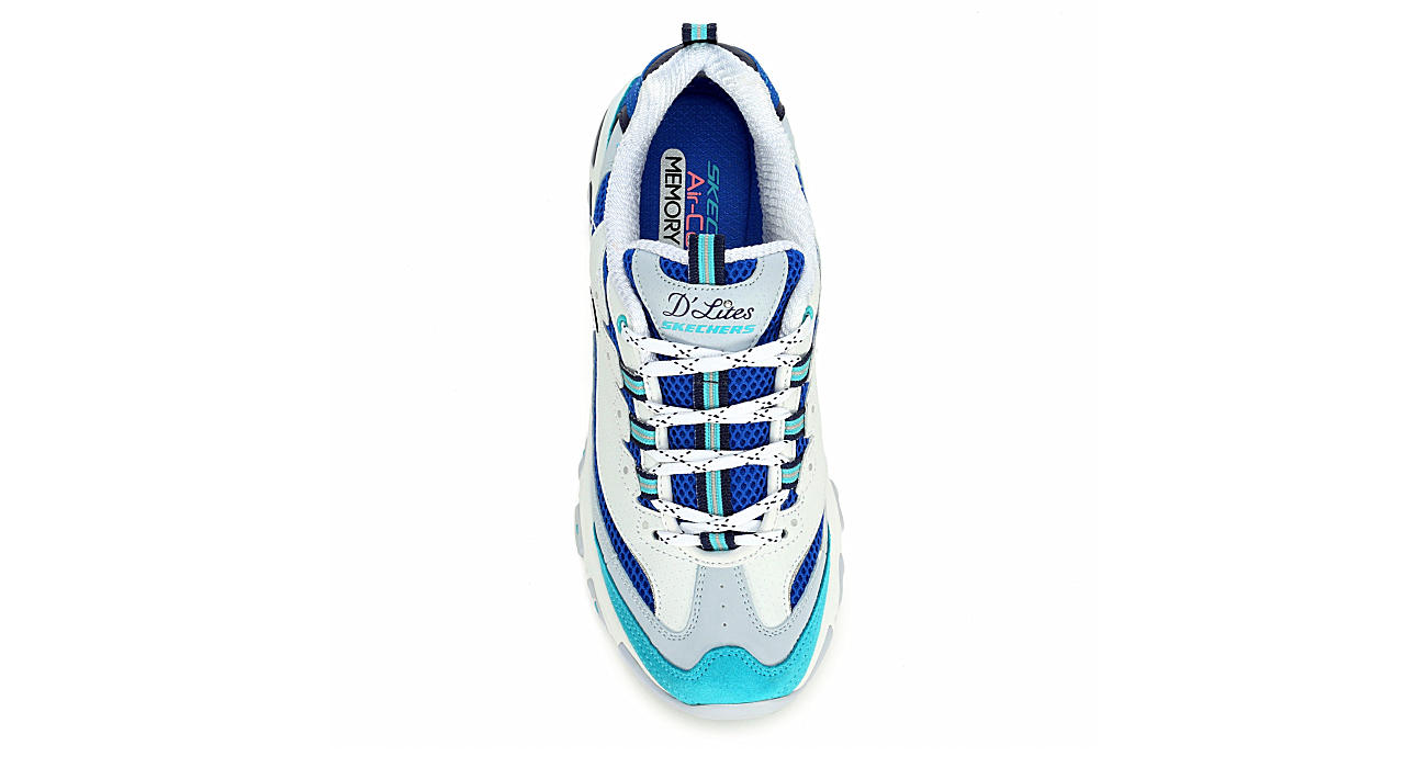 SKECHERS Womens Dlites Second Chance Sneaker - WHITE
