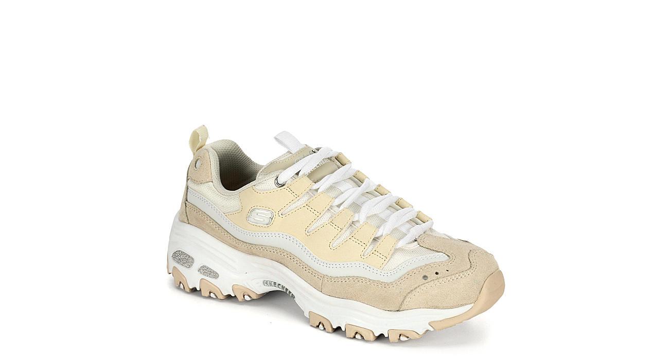 SKECHERS Womens Dlites Sure Thing Sneaker - NATURAL