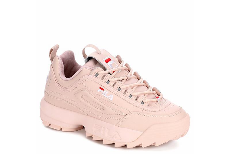 BLUSH FILA Womens Disruptor Ii Premium Sneaker
