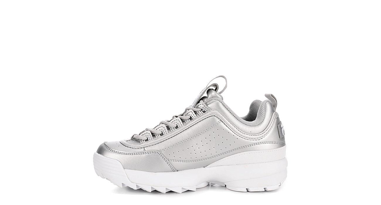 FILA Womens Disruptor Ii Premium Sneaker - SILVER