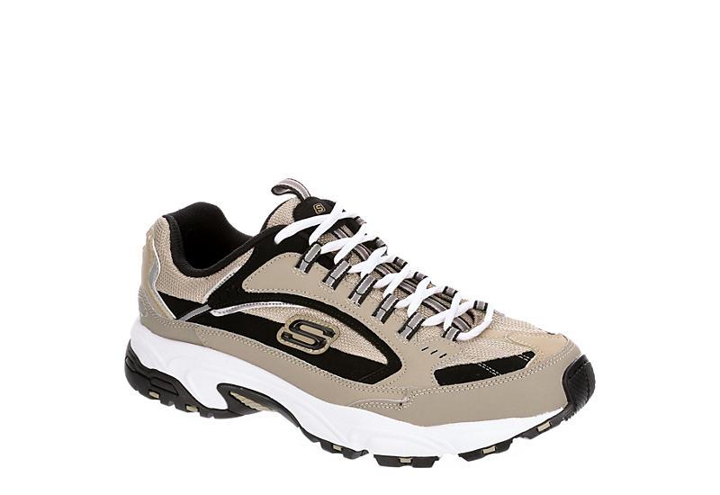 TAUPE SKECHERS Mens Stamina Cutback Sneaker