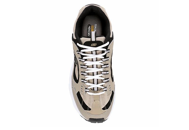 Skechers Mens Stamina Cutback Sneaker Taupe
