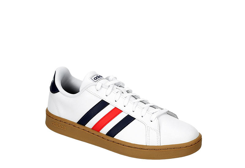 WHITE ADIDAS Mens Grand Court Sneaker