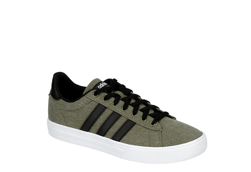 OLIVE ADIDAS Mens Daily 2.0 Sneaker