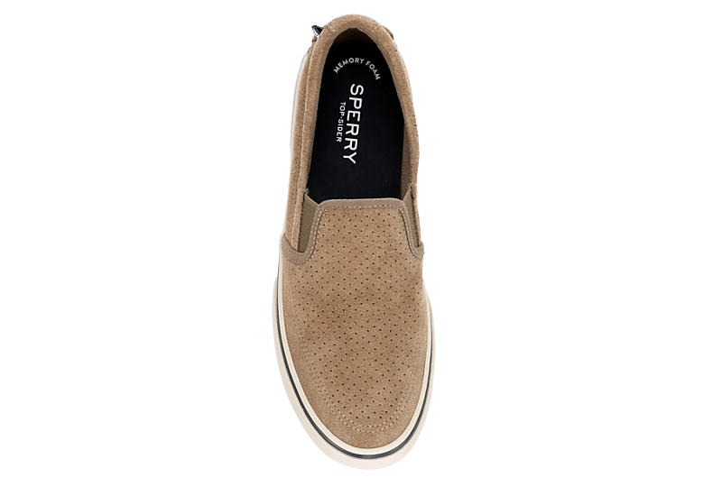 SPERRY Mens Halyard Slip On - DARK TAUPE