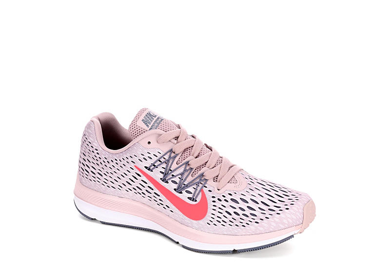 Pale Pink Nike Womens Zoom Winflo 5 Running Shoe Athletic Off