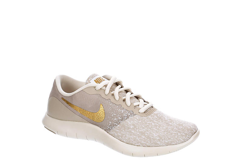 NIKE Womens Flex Contact Running Shoe - OFF WHITE