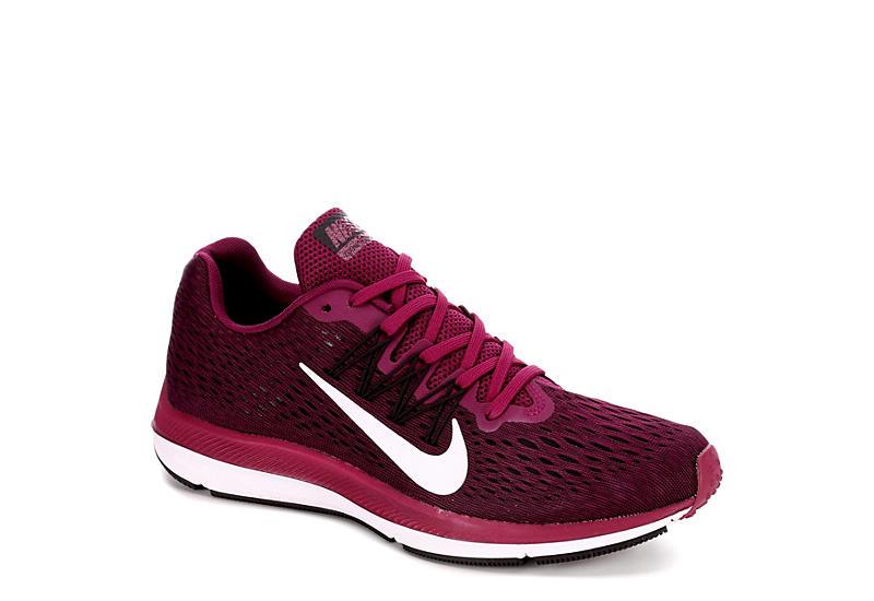 NIKE Womens Zoom Winflo 5 Running Shoe - BURGUNDY