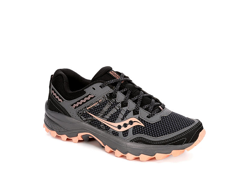 SAUCONY Womens Excursion 12 Trail Running Shoe - BLACK