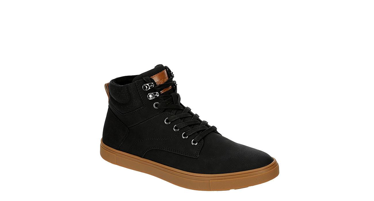 STEVE MADDEN Mens Glazier Gum Sole Hi Top Sneaker - BLACK