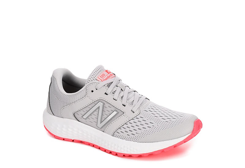 a0d0304043703 Grey New Balance Womens 520 V5 Running Shoe | Athletic | Off Broadway Shoes