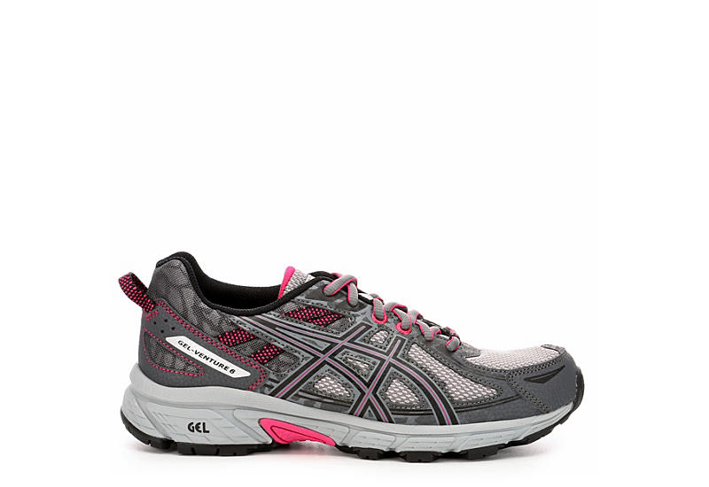 ASICS Womens Venture 6 Trail Running Shoe - GREY