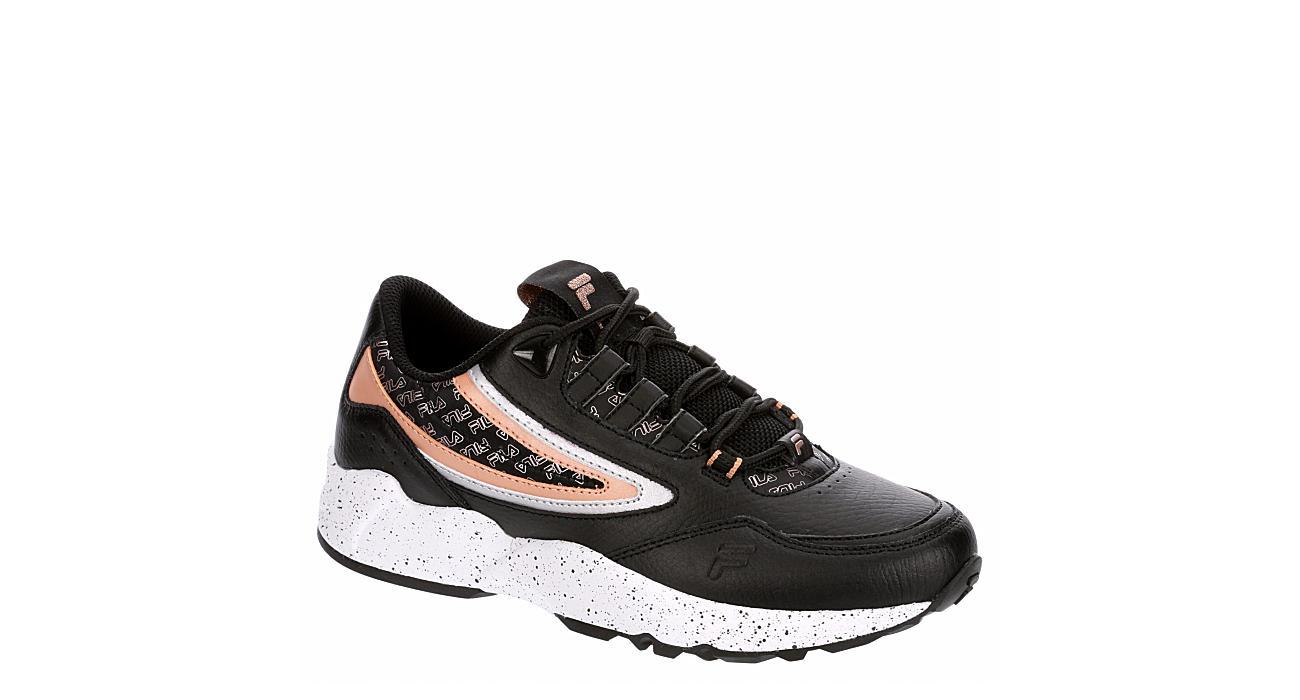 FILA Womens Clockwork Sneaker - BLACK
