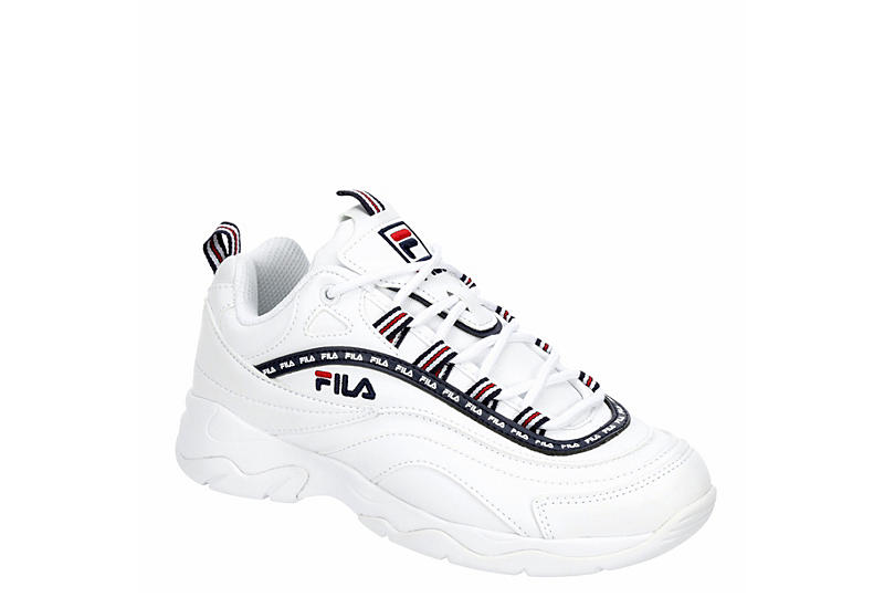 FILA Womens Ray Repeat Sneaker - WHITE