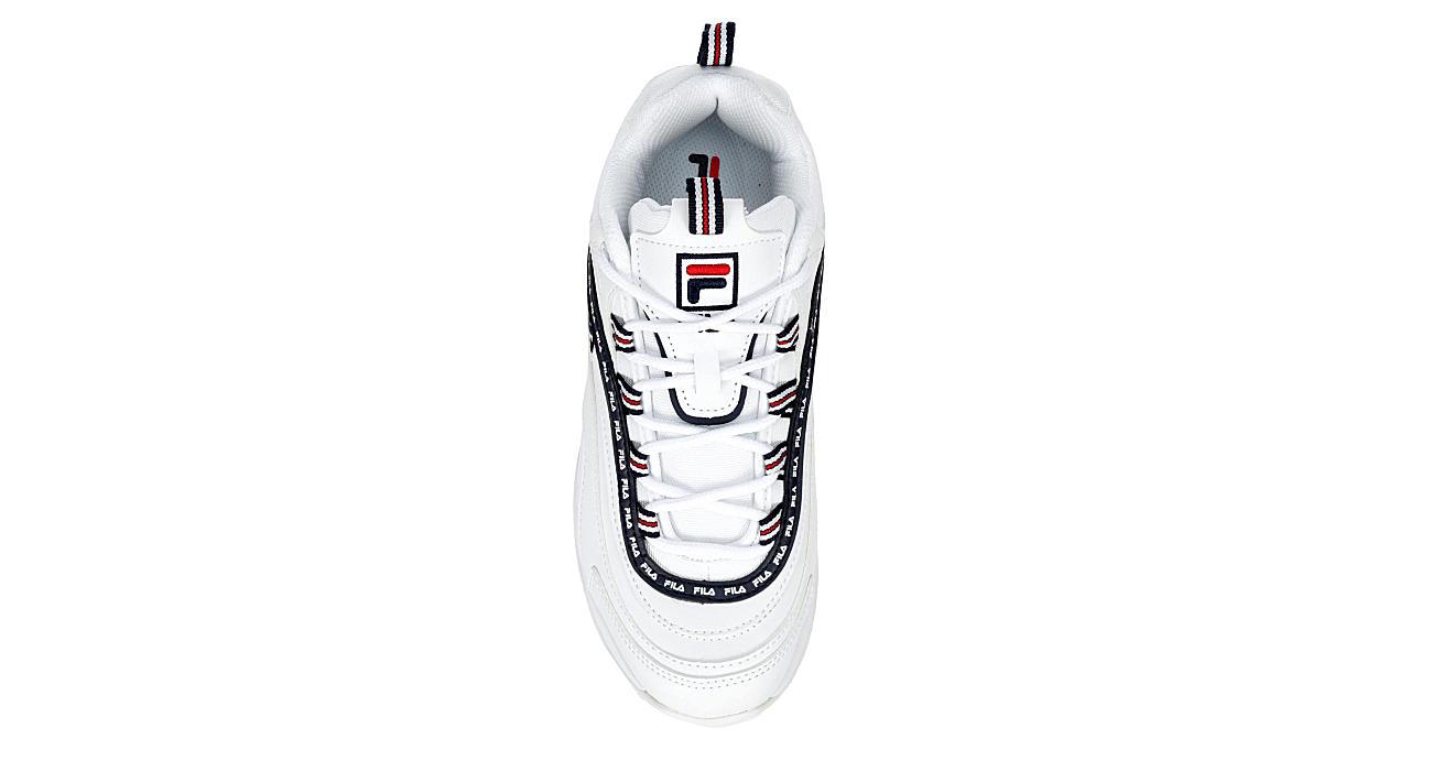 FILA Womens Ray Repeat Sneaker - WHITE