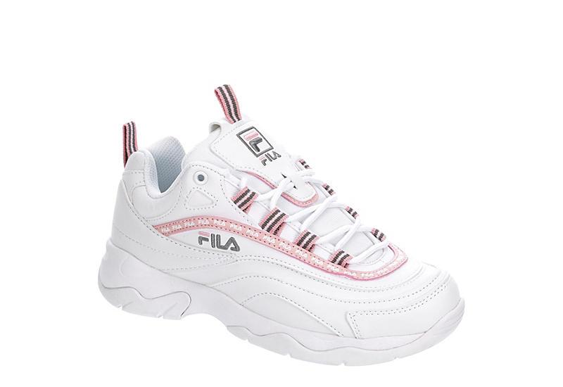 WHITE FILA Womens Ray Repeat Sneaker