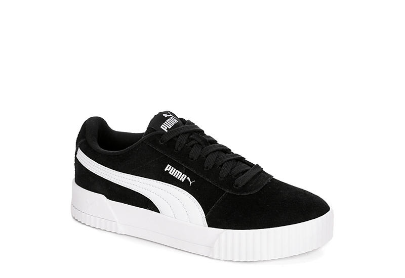 rational construction later top style BLACK PUMA Womens Carina Sneaker