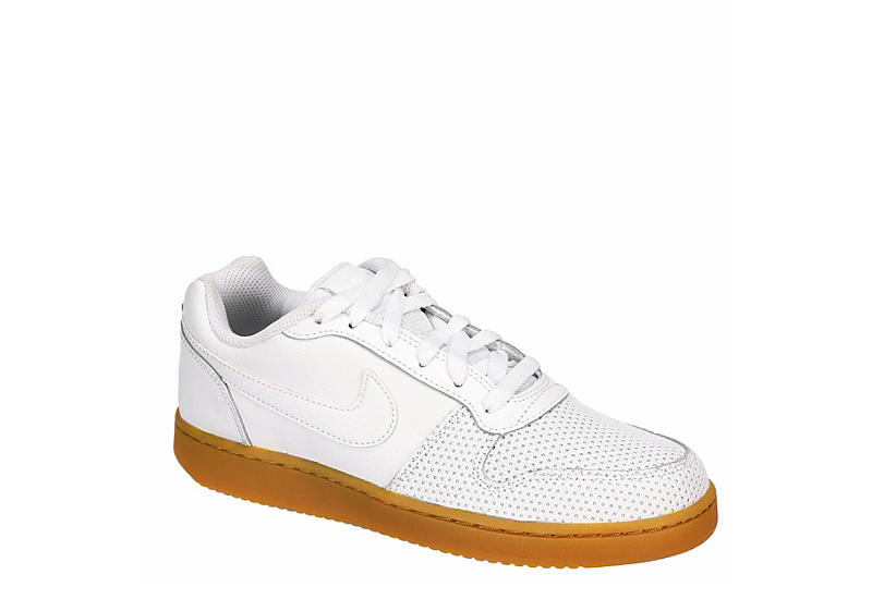 NIKE Womens Ebernon Low Sneaker - WHITE