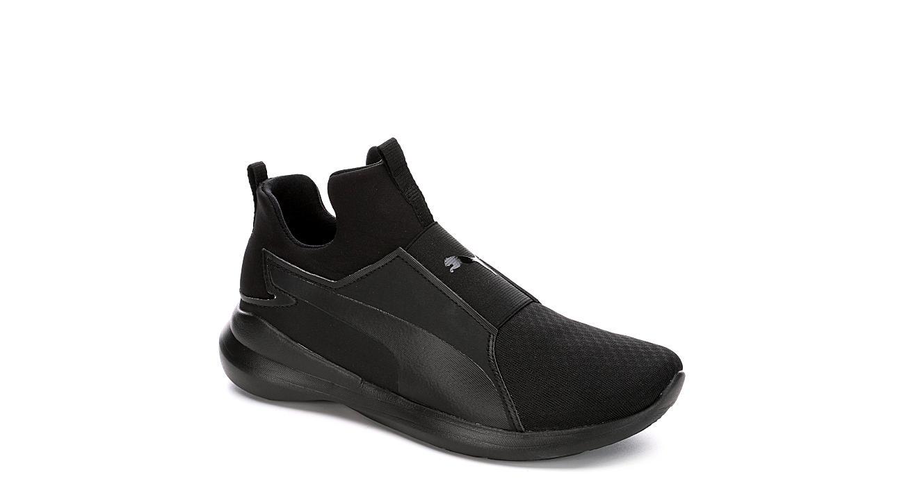 Puma Womens Rebel Mid Sneaker - Black 32f77140a