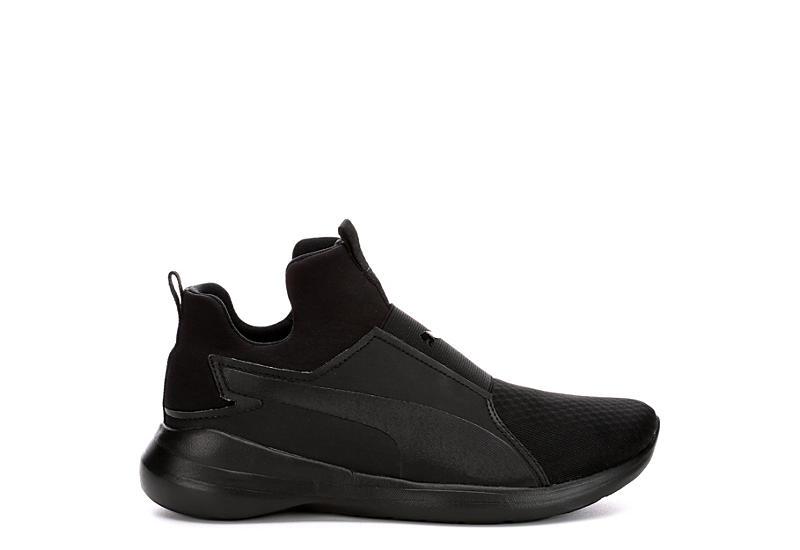 Puma Womens Rebel Mid Sneaker - Black 81bf6946b