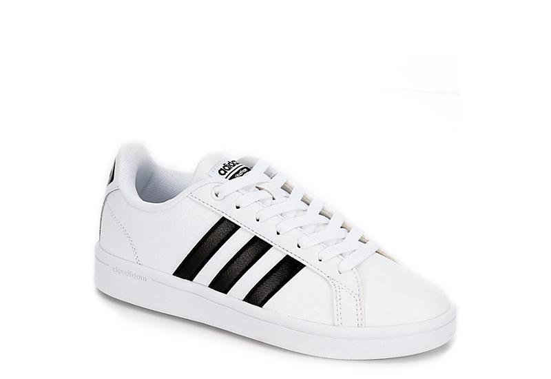 588270fc6b Adidas Womens Advantage Stripe Sneaker - White