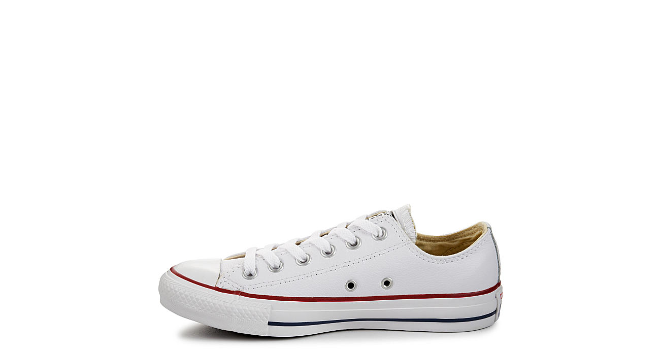 CONVERSE Womens Chuck Taylor All Star Leather Low Sneaker - WHITE