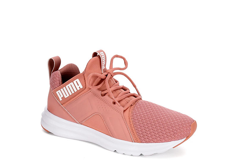 Blush Puma Womens Enzo Mid Sneaker Athletic Off Broadway Shoes