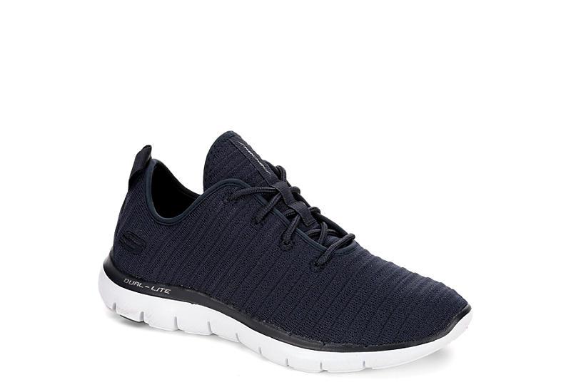 7cde14aa4bfb Skechers Womens Flex Appeal Ribbed Sneaker - Navy