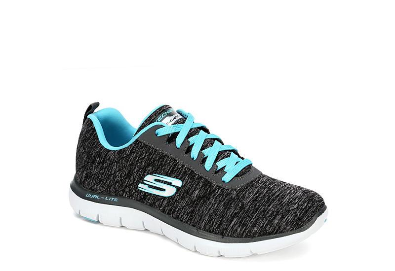 a03d6b656f86 Black Skechers Womens Flex Appeal 2.0 Sneaker
