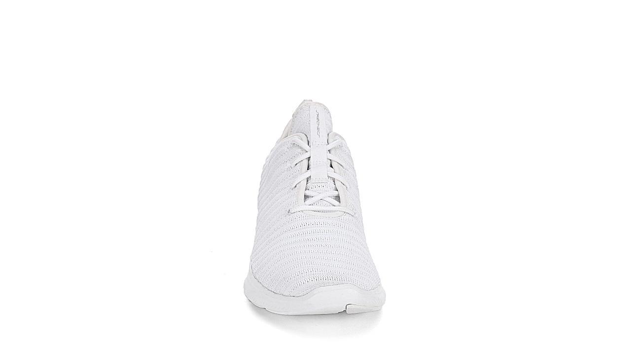 SKECHERS KIDS Womens Flex Appeal Ribbed Sneaker - WHITE